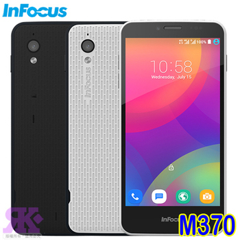 InFocus M370 5吋四核4G雙卡優格機-贈9H鋼保+原廠耳機+8G記憶卡+韓國版可愛收納包+USB-LED燈(時尚白)