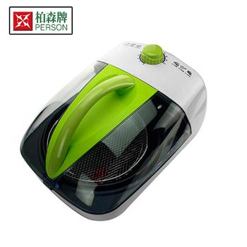 柏森牌 3D氣旋式多功能料理爐 氣炸鍋 烤箱 炒菜鍋 三合一 (PS-K818A)(綠色)