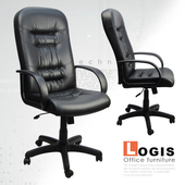 《LOGIS》精選皮面主管電腦椅(黑)