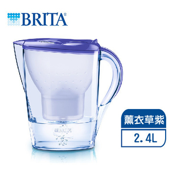 德國BRITA 2.4L馬利拉花漾壺-薰衣草紫【內含一支濾芯】-(薰衣草紫)