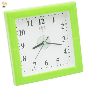 ★結帳現折★月陽 16cm正方形指針式桌掛2用鬧鐘時鐘座鐘壁掛鐘(RW8082)