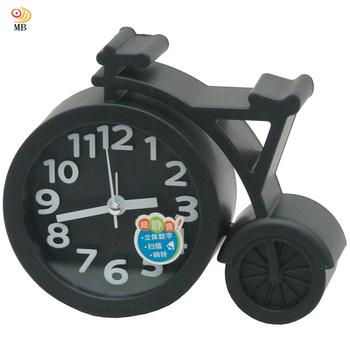 月陽 13cm自行車造型掃秒靜音鬧鐘時鐘座鐘(RW947)