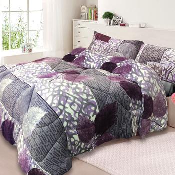 三浦太郎 法蘭絨超厚感暖暖被/毯被-7款任選(紫葉楓林)