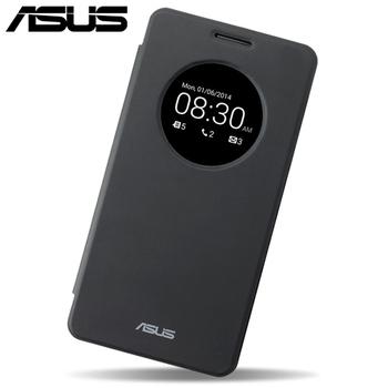 ASUS Zenfone 6原廠智慧透視皮套-贈LED燈(USB含觸控式開/關功能)(傲世黑)