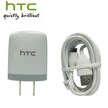 HTC 原廠充電組 AC插頭旅行充電器+原廠傳輸線 (TC U250+DC M410) 各廠適用 黑/白(白色)