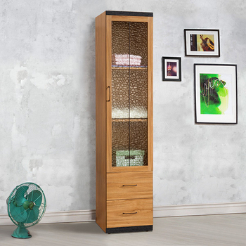 《Homelike》黑森林1.5x7尺二抽衣櫃