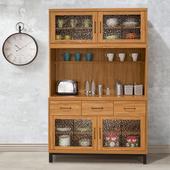 《Homelike》黑森林4尺餐櫃