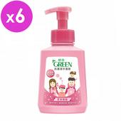 《綠的GREEN》抗菌潔手慕斯-花朵泡泡(500ml*6入組)
