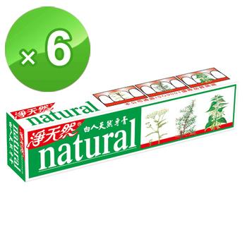 白人 天然牙膏144g*6支