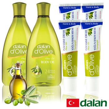 《土耳其dalan》頂級橄欖植物複方極緻修護美體美足(6件組)買就送歐美香氛皂一入(隨機出貨)
