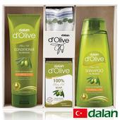 《土耳其dalan》頂級橄欖油木製套裝禮盒(400ml+200ml+150g)