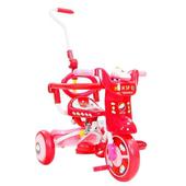 《StepDragon》日本暢銷 Q9 12吋 可後面操控 安全無毒多功能摺疊三輪車(紅)