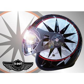 GracShaw 【X-DOT G-CLASSIC國際精品安全帽】馬來西亞第一品牌、復古飛行帽、義大利設計(B款 L)