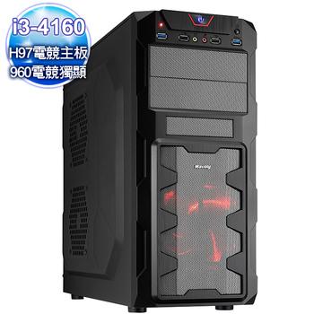 微星平台 【極速天命】i3雙核GTX960-2G獨顯 大容量燒錄電腦