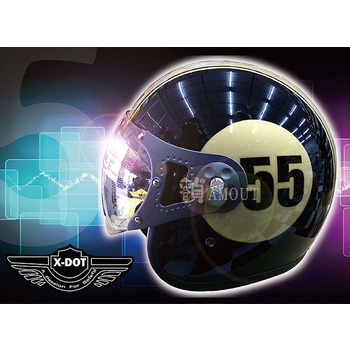 GracShaw 【X-DOT G-CLASSIC國際精品安全帽】馬來西亞第一品牌、復古飛行帽、義大利設計(C款 L)