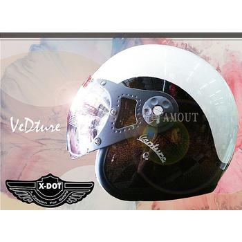 GracShaw 【X-DOT G-CLASSIC國際精品安全帽】馬來西亞第一品牌、復古飛行帽、義大利設計(F款 L)