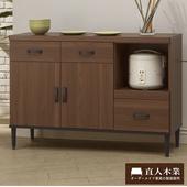 《日本直人木業》Industry120CM簡約生活廚櫃