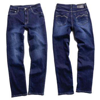 SCORPION 深藍金線直筒牛仔褲(32)