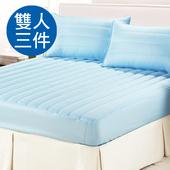 《三浦太郎》☆台灣精製☆防潑水舖棉床包式保潔墊-兩色任選 (B0554+B0553)(天空藍/雙人三件式)