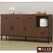 《日本直人木業》Industry 161CM簡約生活廚櫃