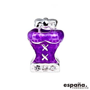 ESPANA伊潘娜 迷人的我純銀/琺瑯串珠-紫