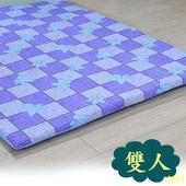 《戀香》大方格藍楓葉雙人床墊