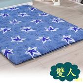 《戀香》TC透氣針織藍楓葉雙人床墊