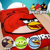 《ANGRY BIRDS 憤怒鳥》搖粒絨暖暖厚毯被5*6.5呎/四款任選(B0616-A)(黑鳥)