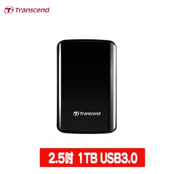 Transcend 創見 SJ25D3 1TB 2.5吋行動硬碟(白色)(TS1TSJ25D3)