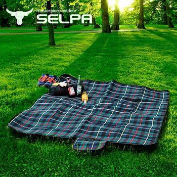 韓國SELPA 戶外防水處理絨毛野餐墊(中型)