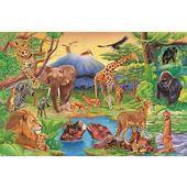 《DC-PUZZLE》54片兒童地板拼圖(野生動物)