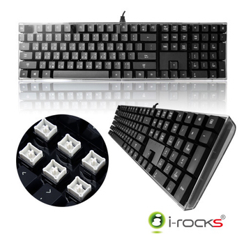 i-Rocks IK6 水晶USB鍵盤(黑色)