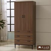 《日本直人木業》Industry簡約生活80CM衣櫥