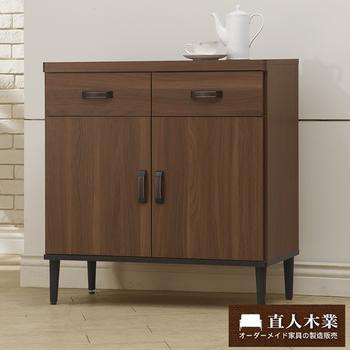 日本直人木業 Industry雙門廚櫃80CM