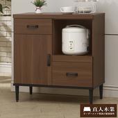 《日本直人木業》Industry80CM簡約生活廚櫃