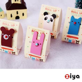 ZIYA 設計款繽紛集線器 線材與耳機的整理小幫手 (可愛動物園系列 二入)
