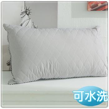 JOY 可水洗鋪棉竹炭枕-2入組