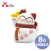 《Xebe集比》8G 造型OTG隨身碟(招財貓)