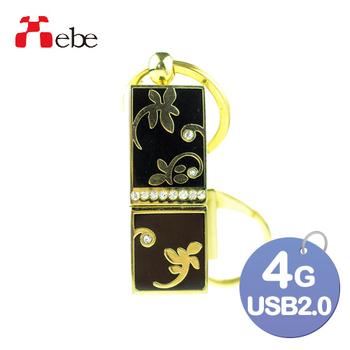 《Xebe集比》4G USB精品隨身碟(細緻花紋)