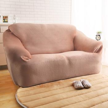 HomeBeauty 頂級柔暖法蘭絨沙發罩-2人座(共八色)(卡其色)