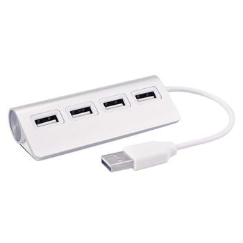 g-IDEA Bravo-u USB2.0 鋁合金4 Port HUB(銀)(USB2.0 4 Port HUB)