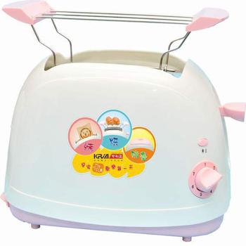 《KRIA可利亞》烘烤二用笑臉麵包機 KR-8001(粉色)