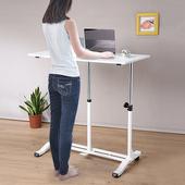 《C&B》哈特氣壓無段式升降站立桌(白色)