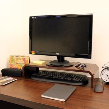 《頂堅》寬58.6公分-(鐵板製)桌上型-螢幕架/置物架(二色可選)(深咖啡色)