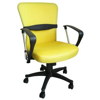 ★結帳現折★Dr. DIY [透氣網布+靠腰墊]雙彩主管-辦公椅[含後仰功能](黃色)