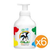 《潤波》兒童全脂牛奶 泡泡慕絲沐浴乳 400mlX6瓶