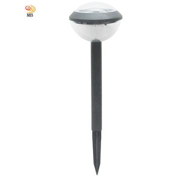 月陽 黑圓頂太陽能燈充電自動光控LED庭園燈草坪燈插地燈(5014B)