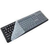 《月陽》通用型防水防塵防油彈性矽膠台式鍵盤保護膜超值2入(K3215)