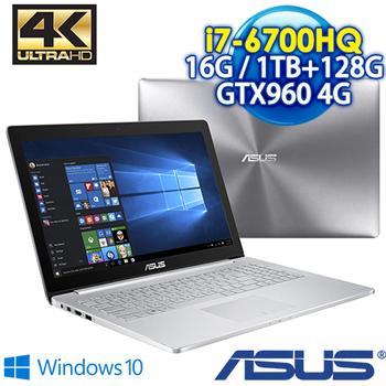 ASUS UX501VW-0062A6700HQ 15.6吋UHD i7-6700HQ GTX960 2G獨顯 Win10極致筆電(15.6吋-加贈DVD燒錄機+無線滑鼠+防震包+螢幕貼)