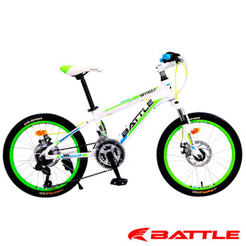 BATTLE WITKEY 威特 日本 SHIMANO 20吋21速鋁合金碟煞登山車(附加 輪組反光片)(白)